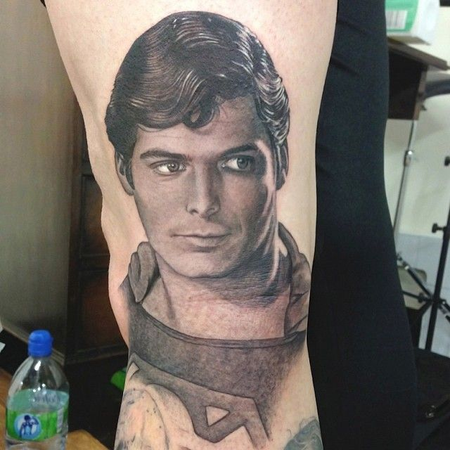 Tattoos And Body Art World: Christopher Reeve Superman Portrait Tattoo By David Corden