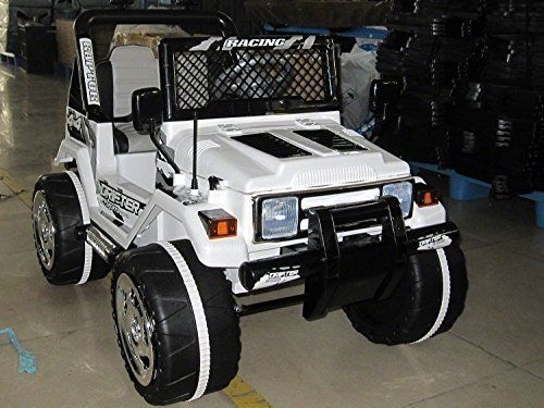 2016 white jeep wrangler power kids 12v ride on toy remote control battery wheels rc style