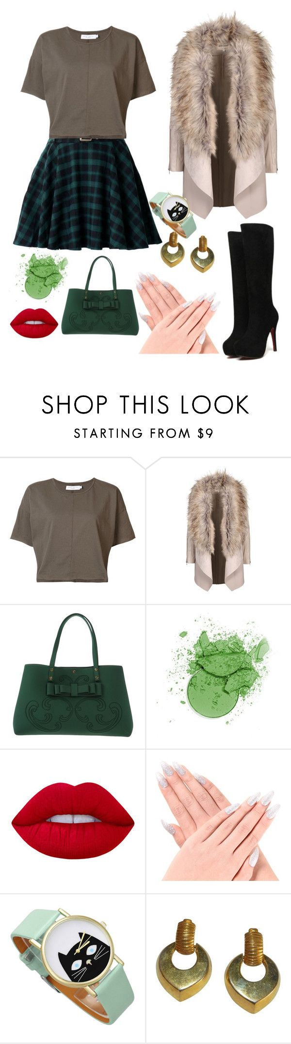 """""""The casual plaid"""" by b002 ❤ liked on Polyvore featuring daniel patrick, La Fille Des Fleurs, Lime Crime and Givenchy"""