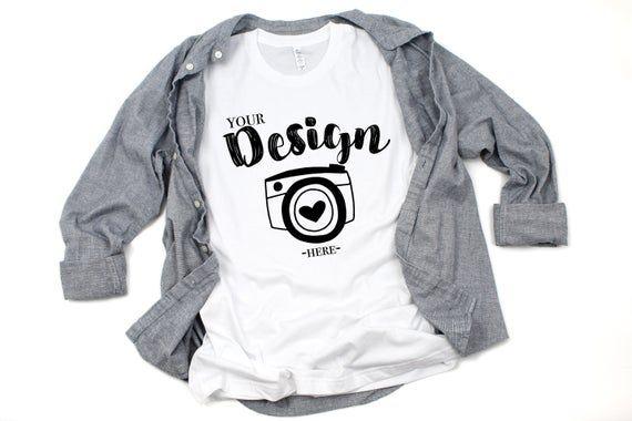 Download Free Bella Canvas 3001 White T Shirt Mockup Unisex T Shirt Mock Psd Free Psd Mockups Mockup Free Psd Shirt Mockup Clothing Mockup