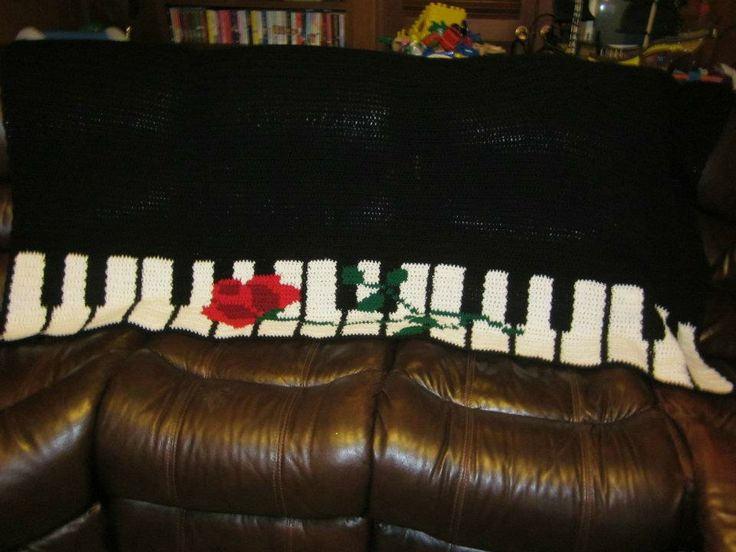 Crochet Pattern For Piano Afghan : Pin by Donna Wise on Crochet by Me Stuff Pinterest