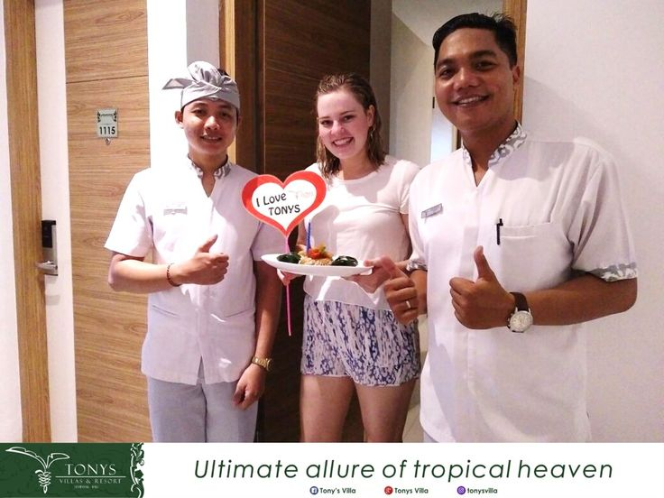 Happy Birthday for you Ms. Kelsey. We wish you all the best and full of smiles in your life.  It was a pleasure to give you a surprise during your stay. Have a beautiful experience stay with us. . . . #bali #seminyak #tonysvilla #holiday #vacation #celebration #surprise #candle #birthday #cake #cassavacake #love www.balitonys.com