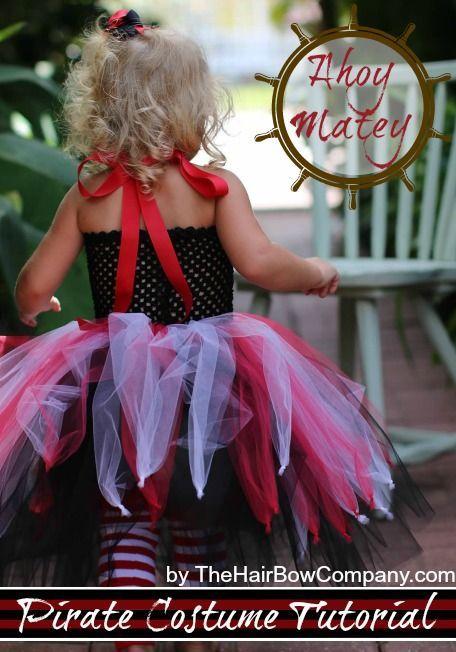 Pirate Costume Tutu Dress | Tutorial & Supplies