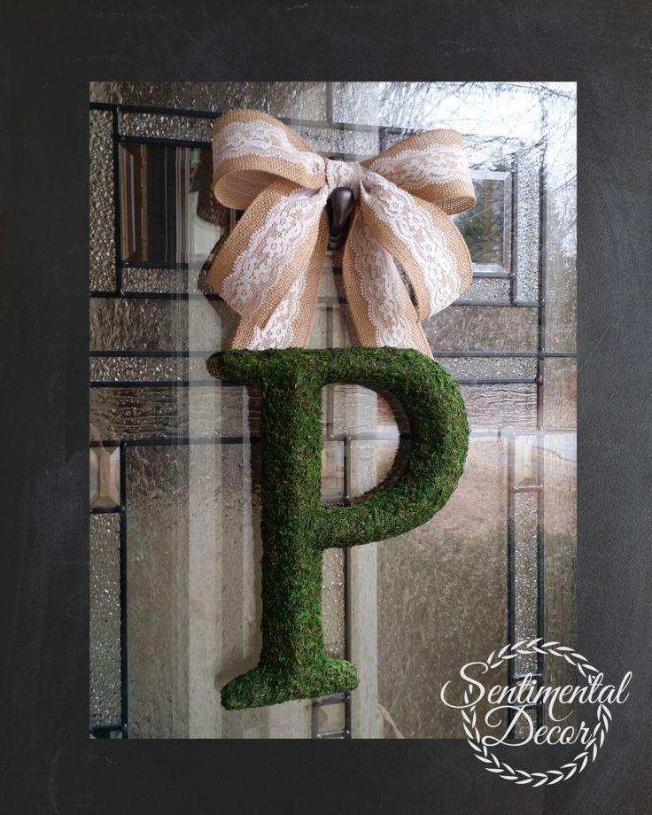 Moss Letter 3D Monogram PMoss InitialFront Door