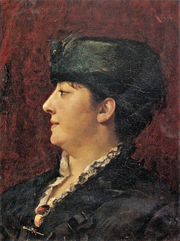 Γυναίκα με πράσινο καπέλο