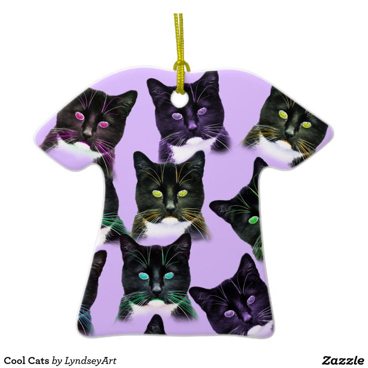Cool Cats. Crazy cats in all sorts of funky colors. Purrfect for those cat lovers at Christmas time. You can customise this design too :) LyndseyArt