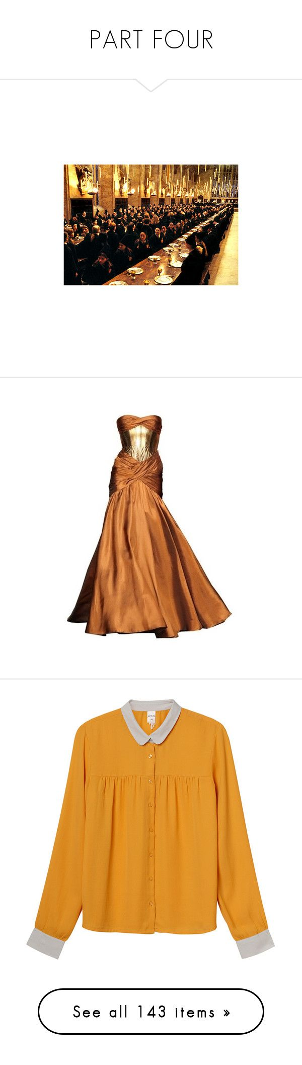 """PART FOUR"" by magical-muse ❤ liked on Polyvore featuring harry potter, hogwarts, backgrounds, pictures, hp, dresses, gowns, long dresses, brown gown and brown evening dress"