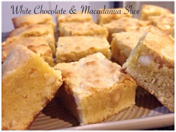 White Chocolate & Macadamia Slice