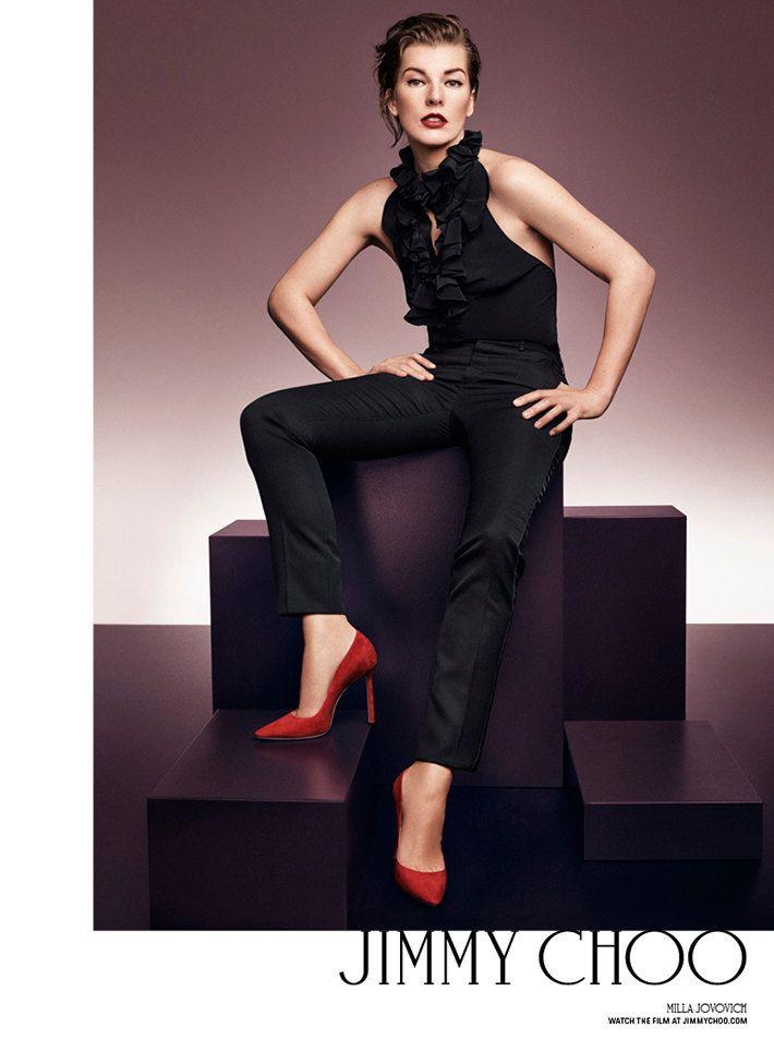 Эмбер Валлетта, Мила Йовович и еще 5 супермоделей в рекламной кампании Jimmy Choo | Журнал Harper's Bazaar