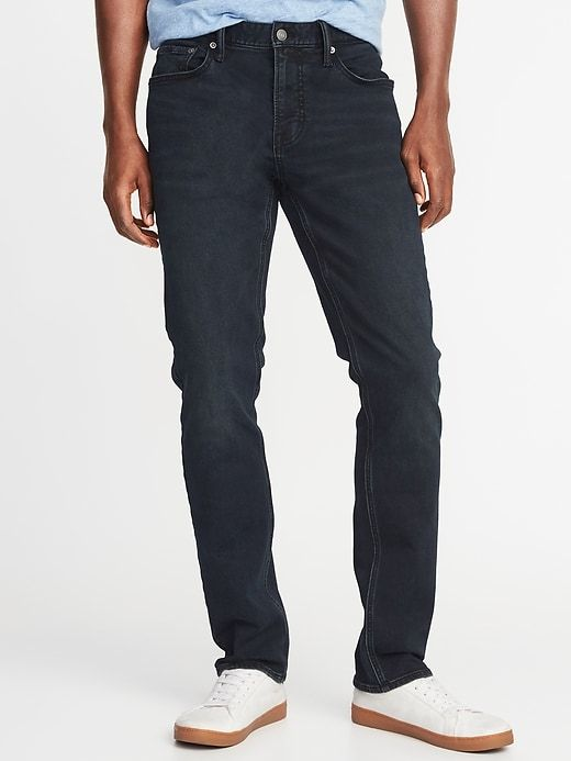 ae9c6b408b Old Navy Men's Slim 24/7 Built-In Flex Blue Black Jeans Blue Black Regular  Size 42W