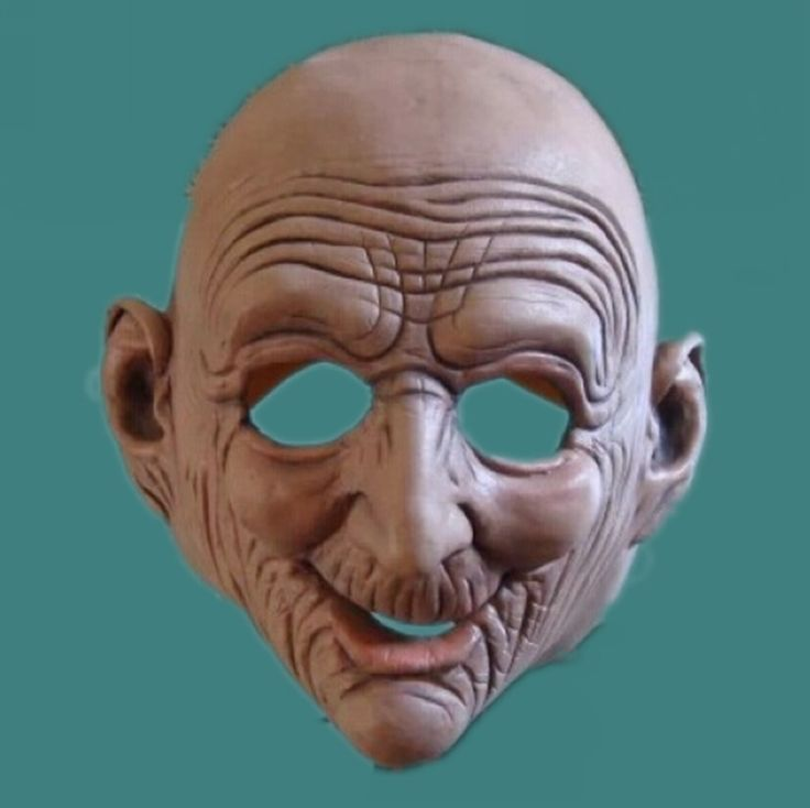 Realistic Old Man Rubber Latex Mask Bald Wrinkled Adult Halloween Face Masks Masquerade Prop Horror Movie Cosplay Party Mask