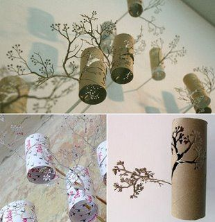 Ideas for reusing toilet paper rolls