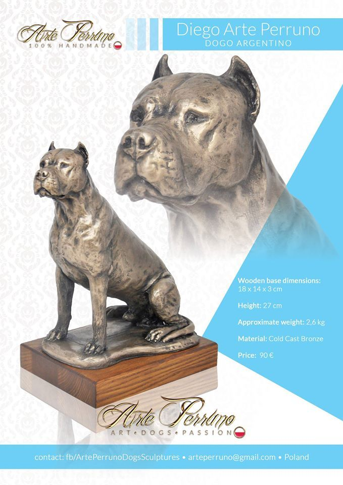 Dogo Argentino Dog Sculpture Cold Bronze Casting Beautiful Idea For A Dog Show Trophy Or A Gift To A Dog Lover D Dog Sculpture Dogo Argentino Dog Dog Art