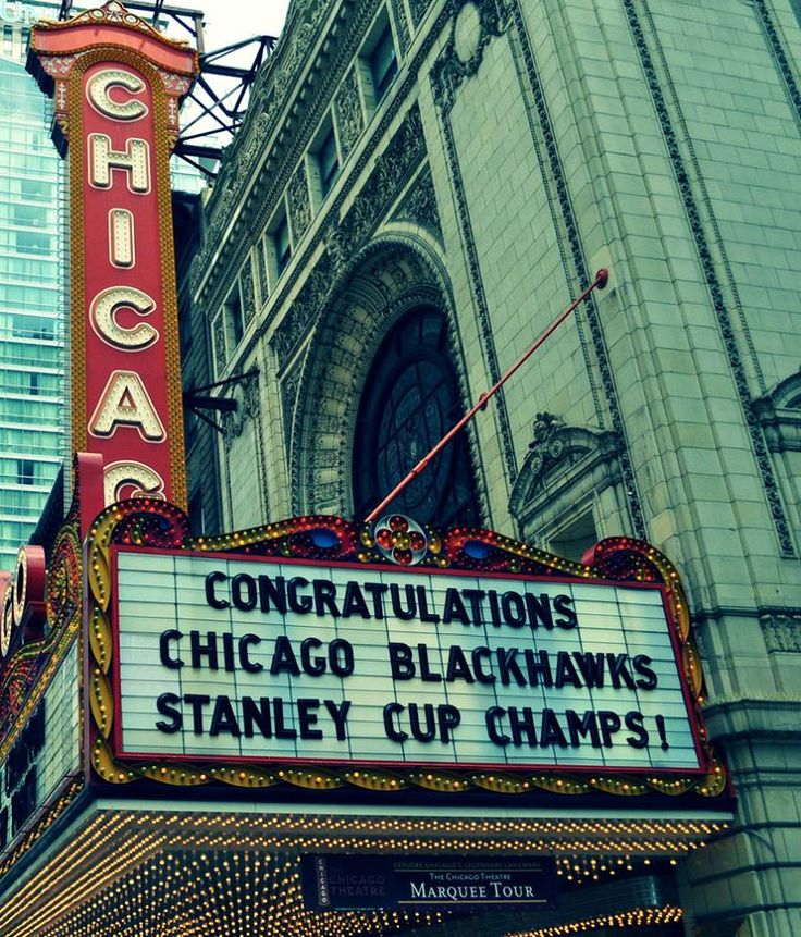 Chicago Theater ::: Congratulations to the Chicago Blackhawks, the 2013 Stanley Cup Champions!