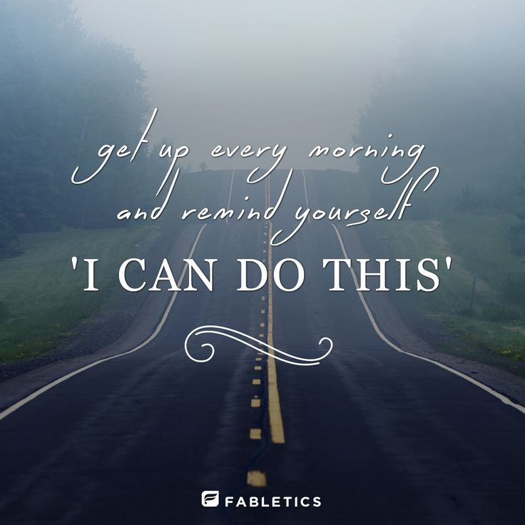 You can do it! It's a daily commitment. #Positive