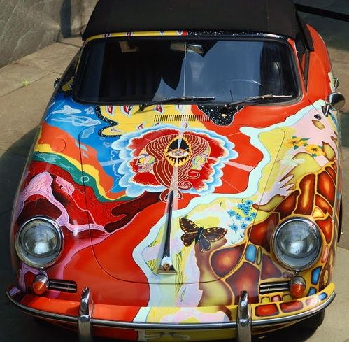 Janis Joplin's 1965 Porsche 356 Cabriolet.  -  The Whitney Museum of American Art Collection