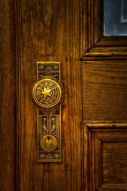 For the true Texan: Texas Lone Star door knob