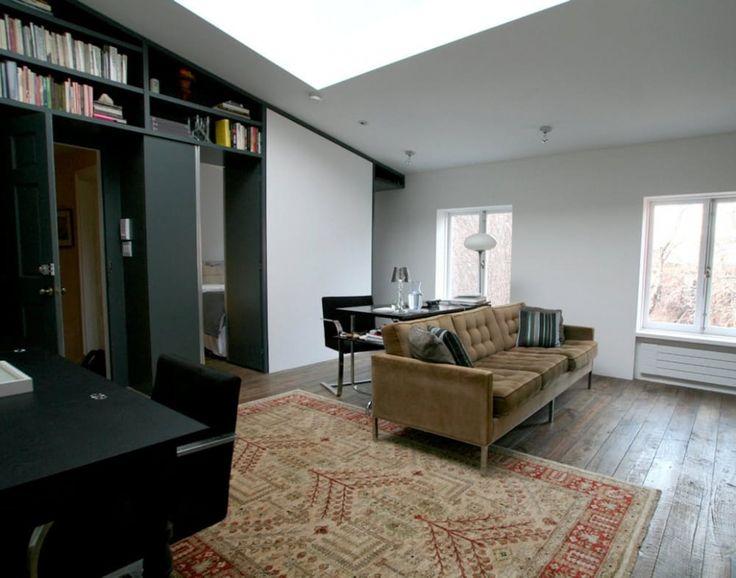 Студия на Манхеттене 28 м2 с ультра-микро кухней в алькове - Дизайн интерьеров | Идеи вашего дома | Lodgers