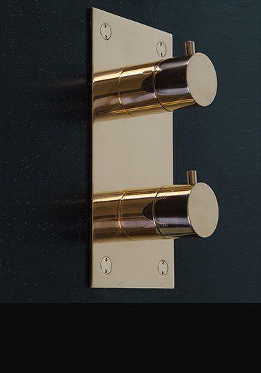 Kara Gold Thermostatic Shower Valve (52JJ) | Bathrooms ...