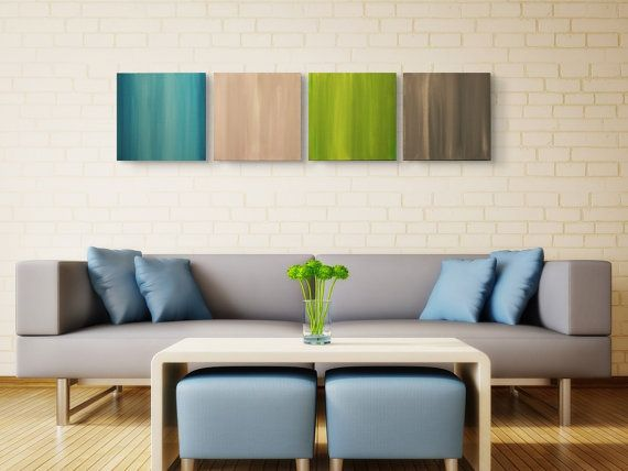 Modern ArtDeco Retro Contemporary 4Panel by abstractmetalart, $169.00