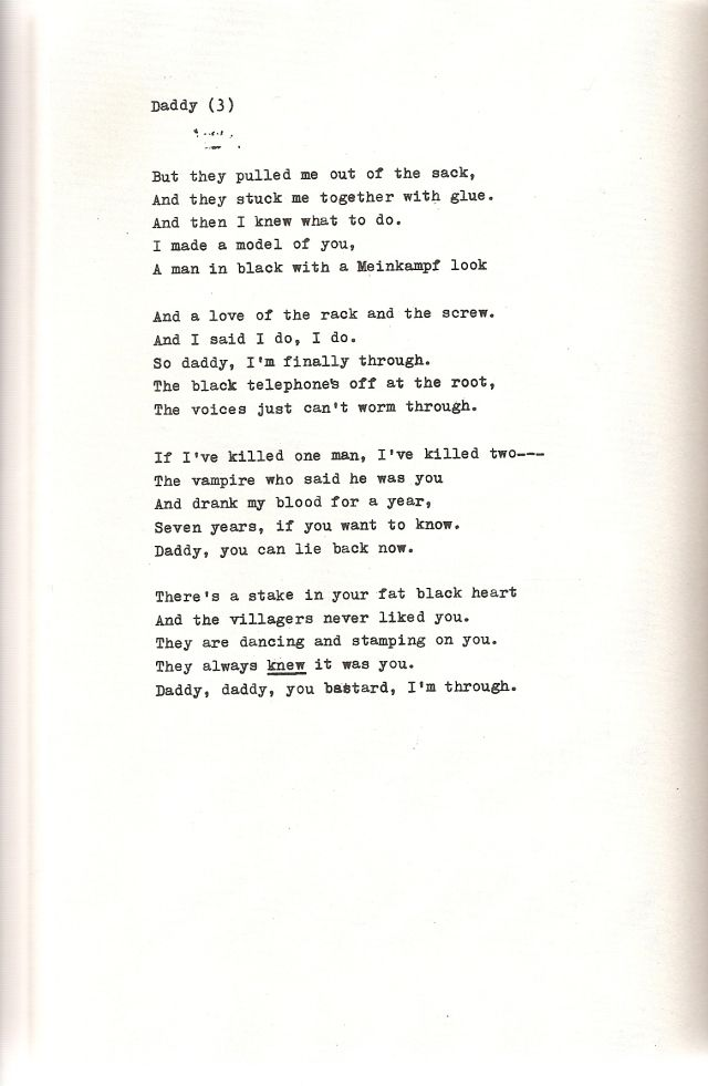 best poetry images sylvia plath poetry and writers daddy by sylvia plath pt 3