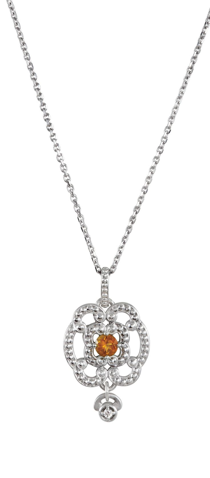 Celebrate November Birthdays with this Granulated Citrine Pendant! Click through for product details OR to locate a jeweler near you. #HBDNovember #HowIStuller