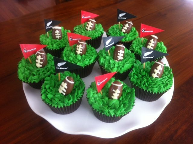 Rugby Cupcakes by Alana Rose Cakes