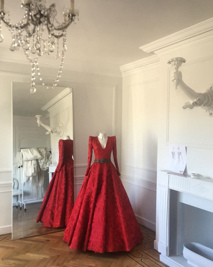 Red dress exclusive for La Boutique Blanche, Doha