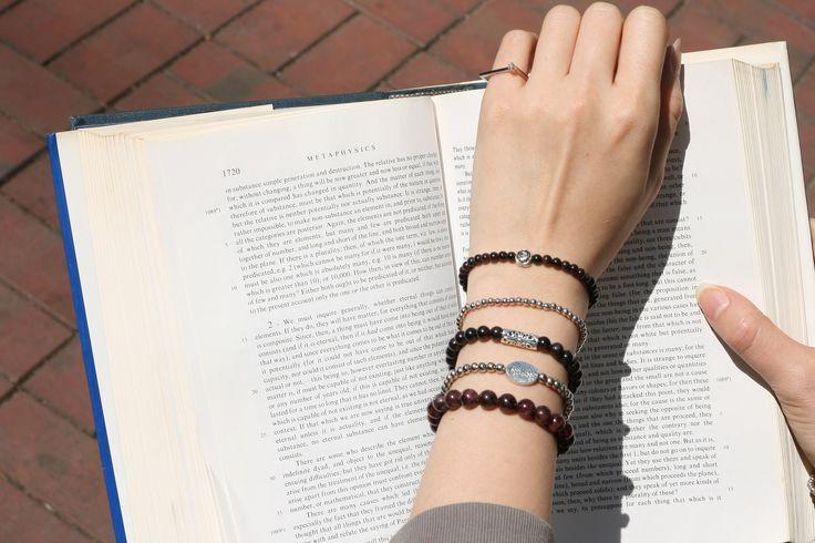 Garnet Gemstone Bracelet Handmade Jewelry Birthstone by Judy and Paul