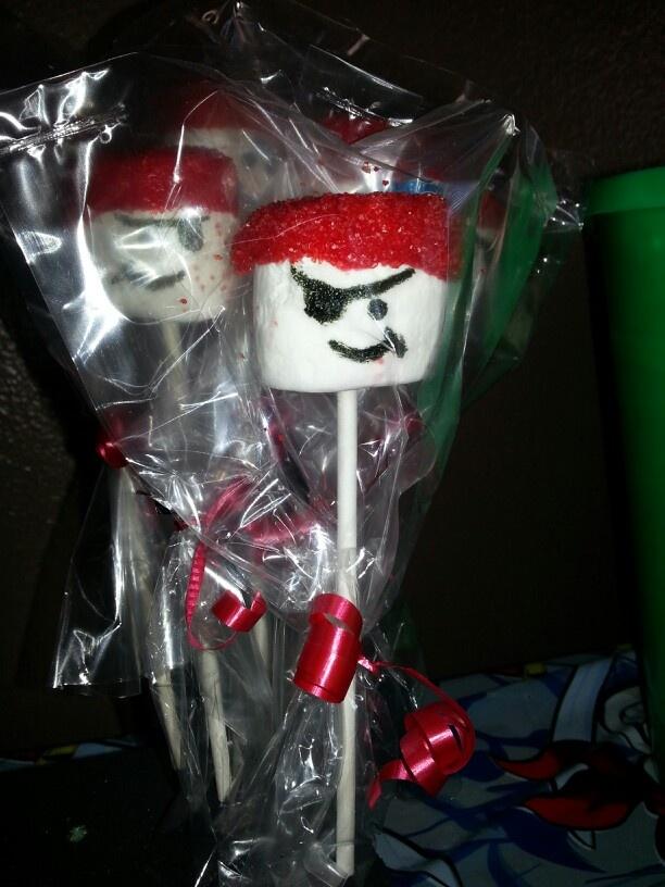 Pirate Marshmello Cake Pop