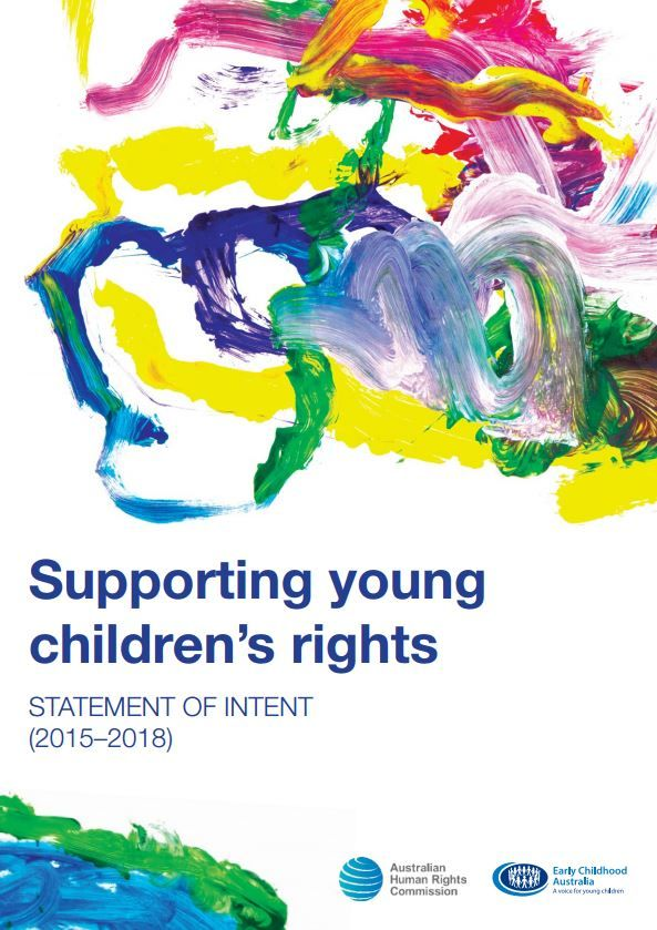 Supporting young children's rights: Statement of intent (2015–2018) provides high-level principles and areas for collective work, advocacy and action by Early Childhood Australia (ECA), its members and the National Children's Commissioner in relation to the rights of young children—including children from birth to primary school age—over the next three years.