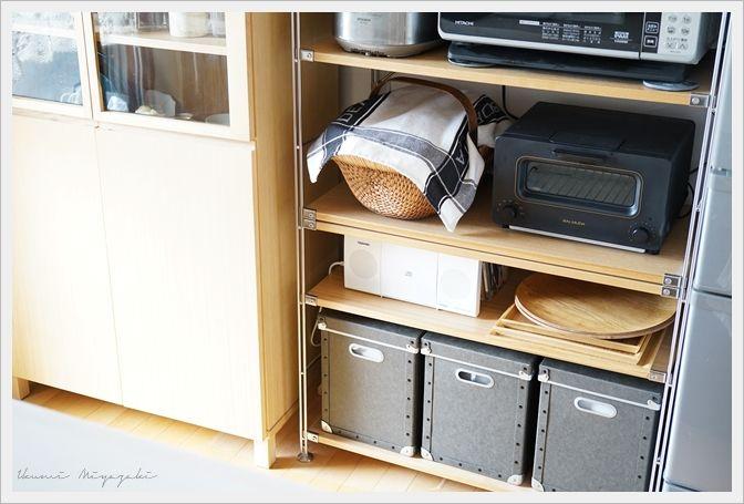 ★無印良品の収納ボックスをごみ箱に♪中のビニール袋を見えないようにする方法!   インテリアと暮らしのヒント