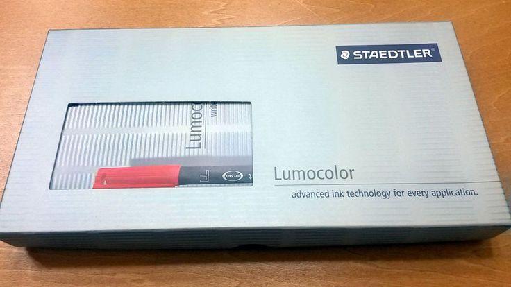 Staedtler Lumocolor Set 1 Whiteboard & 1 Permanent Markers Black Medium NIB CDs #Staedtler