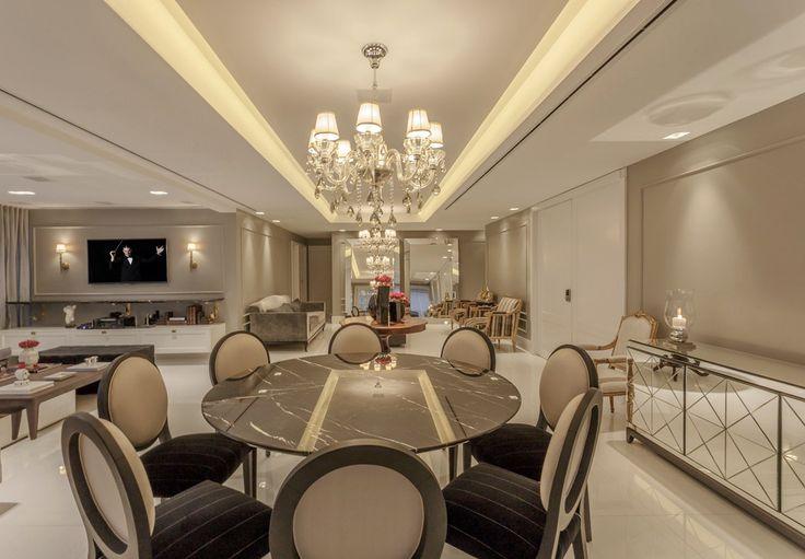 Salas com decoração clássica e contemporânea com toques de dourados! - Decor Salteado - Blog de Decoração e Arquitetura