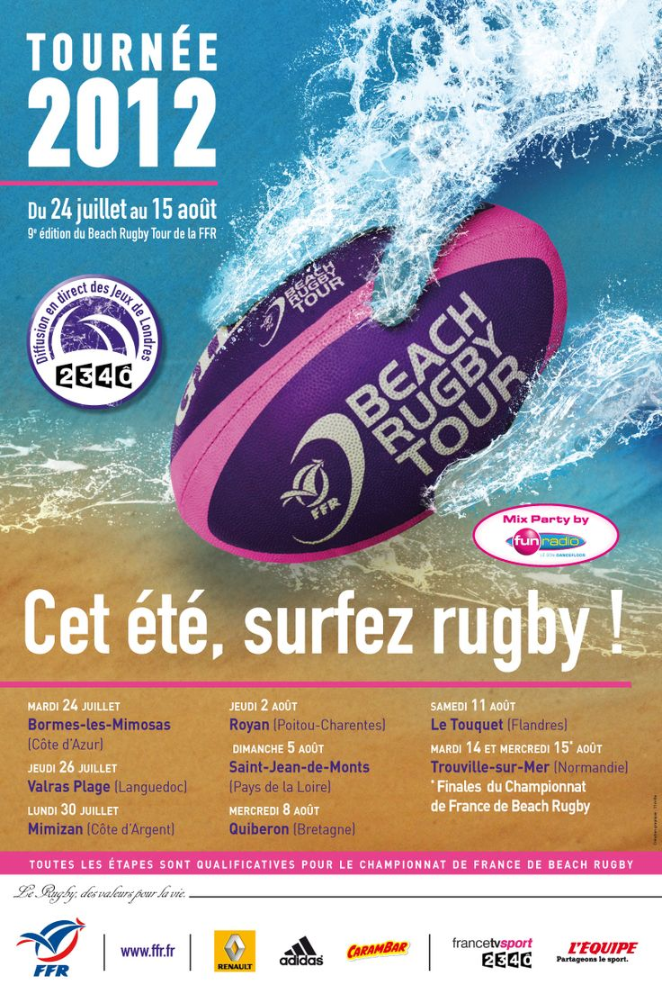 Beach Rugby Tour [ Fédération Française de Rugby ] on Behance