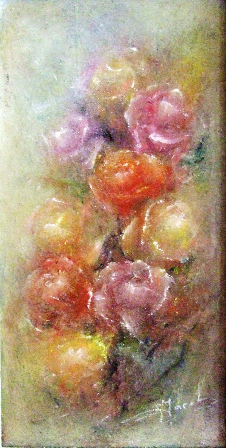 ROSES - oil painting on canvas (50/50)= 500 Euro