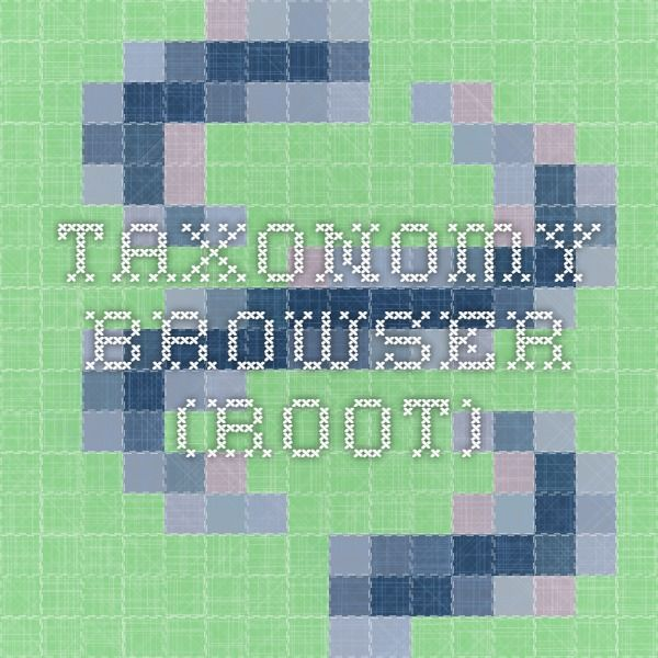 Taxonomy browser (root)