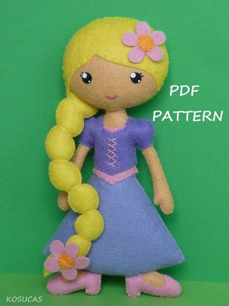 princesas disney de fieltro patrones02