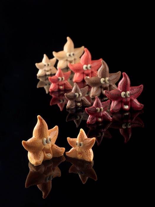 Stampo Stelle Marine per decorazione torte compleanni. Tutti gli stampi in silicone alimentare sono acquistabili online su www.decosil.it #animali #cioccolato #chocolate #animals