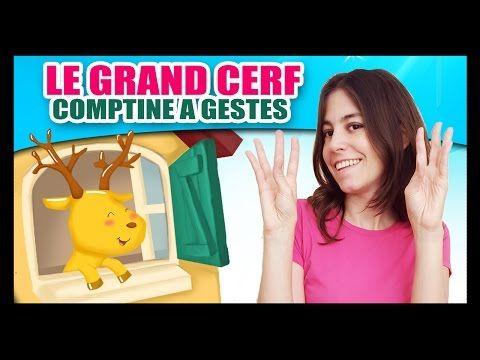 Le grand cerf - Comptines à gestes pour bébés - Titounis - YouTube
