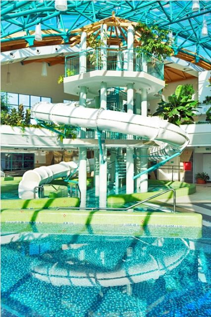 This is one of our most beautiful Aquatube Water Slides. It fits into the environment perfectly. #waterslide #waterslidefun #waterparks
