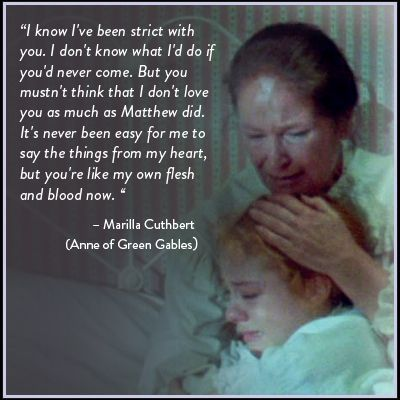 I love Anne of Green Gables, the greatest series I've ever read PS I cried at this part both watching the movie and reading the book