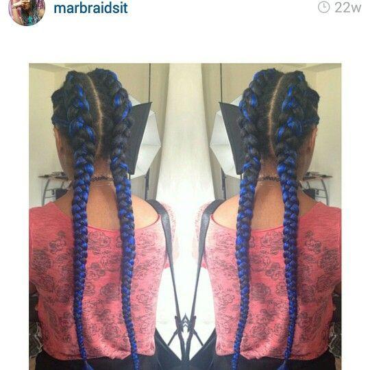 Colored Blue Cornrows Hair Styles Hair Videos American