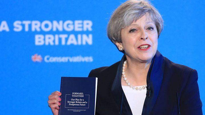 Conservative manifesto: Theresa May targets mainstream Britain'