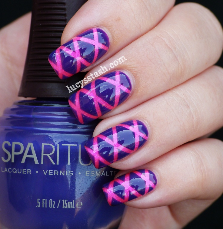 Lucy's Stash: Striping tape nail art manicure with SpaRitual Imaginarium and Illume http://www.lucysstash.com/2012/07/striping-tape-nail-art-manicure-with.html