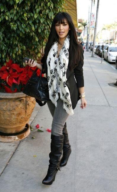 Skull Scarf / Trend Essentials Blog - Kim Kardashian Style