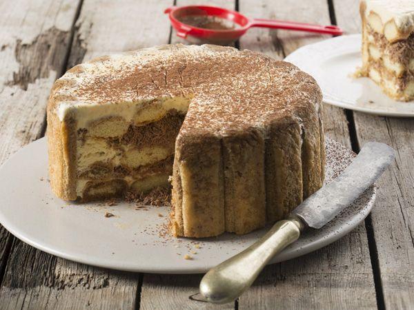 Tiramisu ice cream cake is as easy as making layered Tiramisu!