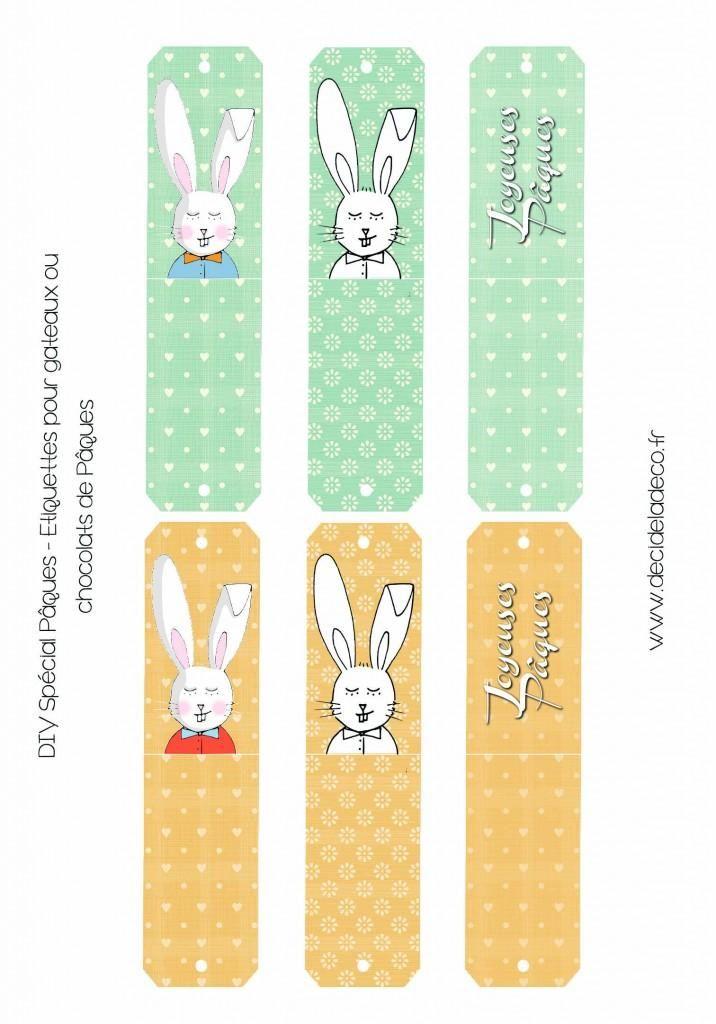 Joyeuses Pâques – étiquettes à télécharger