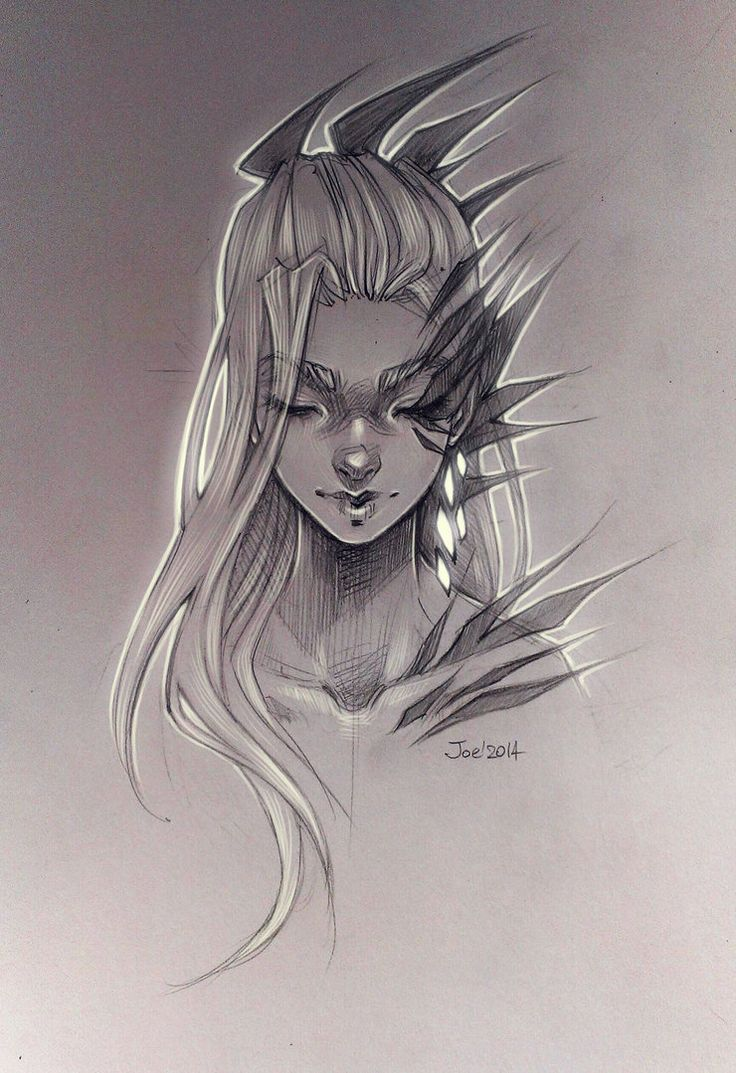 Girl. Sketch by sashajoe on DeviantArt