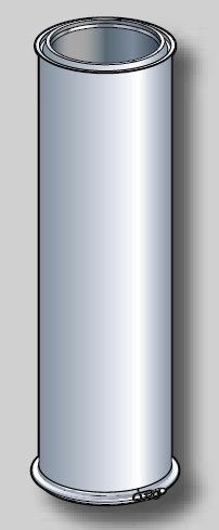 CONDUIT ISOLE 1000mm DOUBLE PAROI INOX GALVA - POUJOULAT